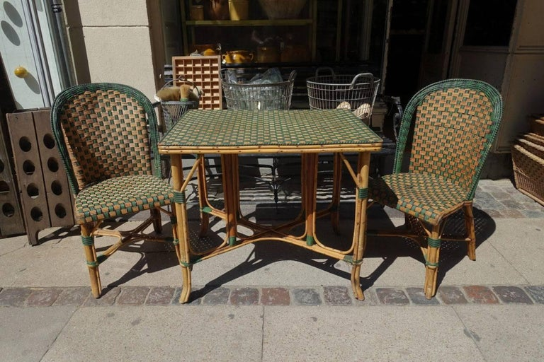 Set of Wickerwork Furniture, Le Rotin For Sale 1