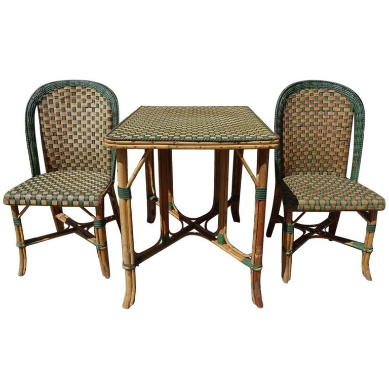 Set of Wickerwork Furniture, Le Rotin For Sale