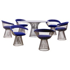 Set of Wire Dining Table and Six Chairs by Warren Platner for Knoll, US - 1960s
