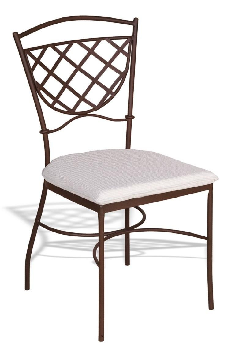 Spanish Set of Wrought Iron Dining Table and Armchairs, Garden or Patio Furniture For Sale