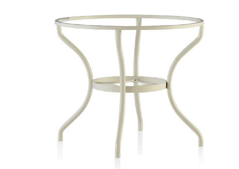 Contemporary Set of Wrought Iron Dining Table and Armchairs, Garden or Patio Furniture For Sale