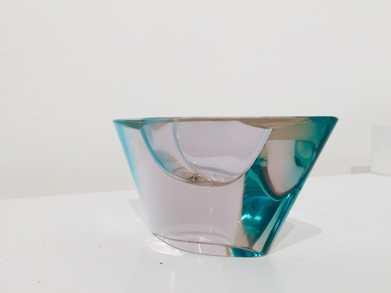 20th Century Set Petite Glass Vases and Ashtray For Sale