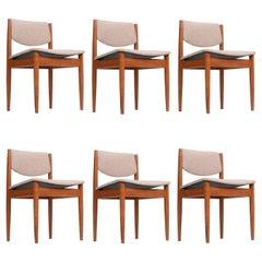 Set Six Finn Juhl for France & Son Teak Chairs, Model 197