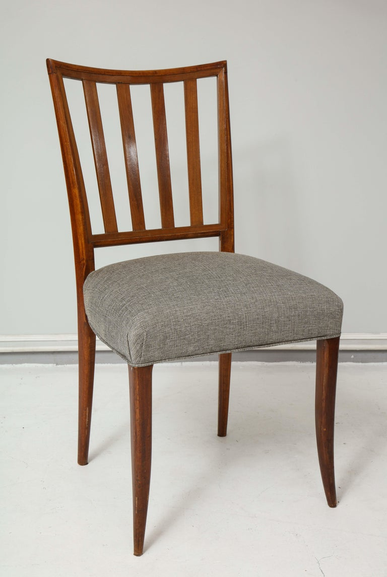 Mid-Century Modern Set Six Mid-century Slat-Back Dining Chairs For Sale