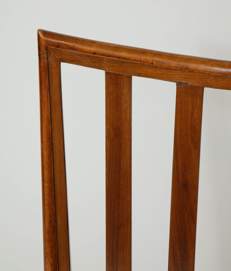 Set Six Mid-century Slat-Back Dining Chairs For Sale 1