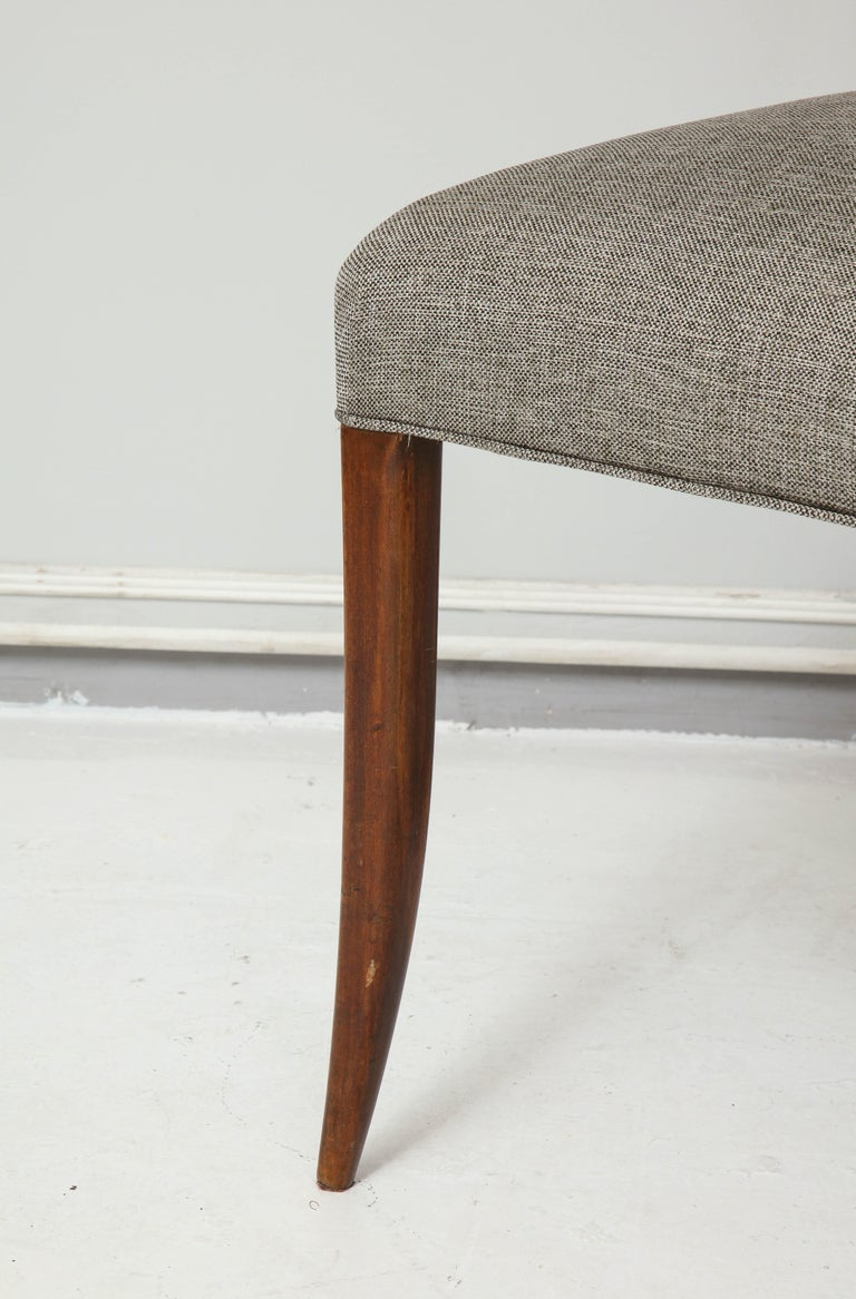 Set Six Mid-century Slat-Back Dining Chairs For Sale 2