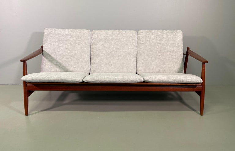 Danish Set Sofa and Pair of Armchair by Hans Olsen, Frem Røjle For Sale