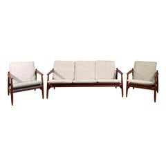 Set Sofa and Pair of Armchair by Hans Olsen, Frem Røjle