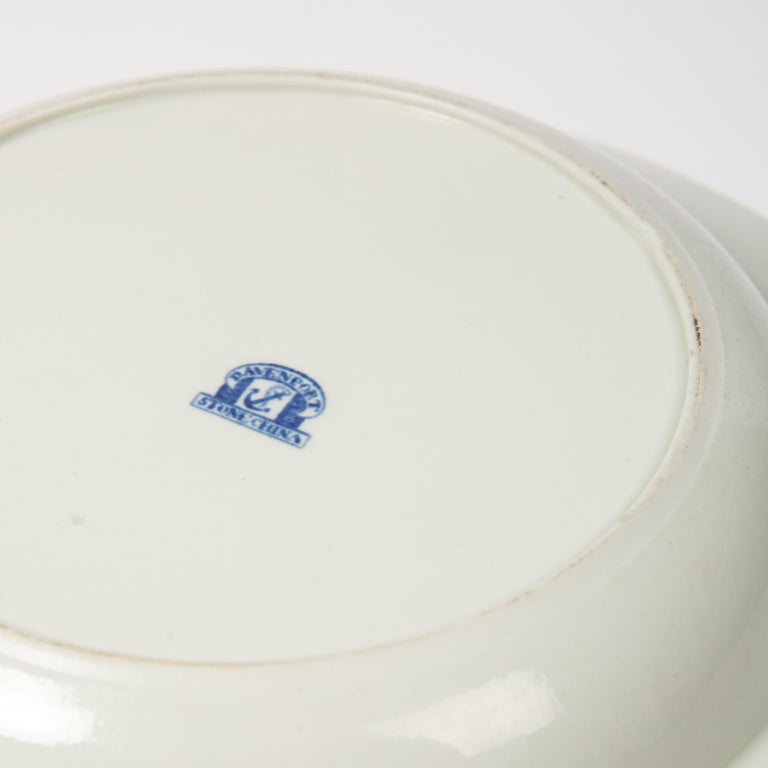 Set of Twelve Antique Dishes Flying Bird Pattern For Sale 5