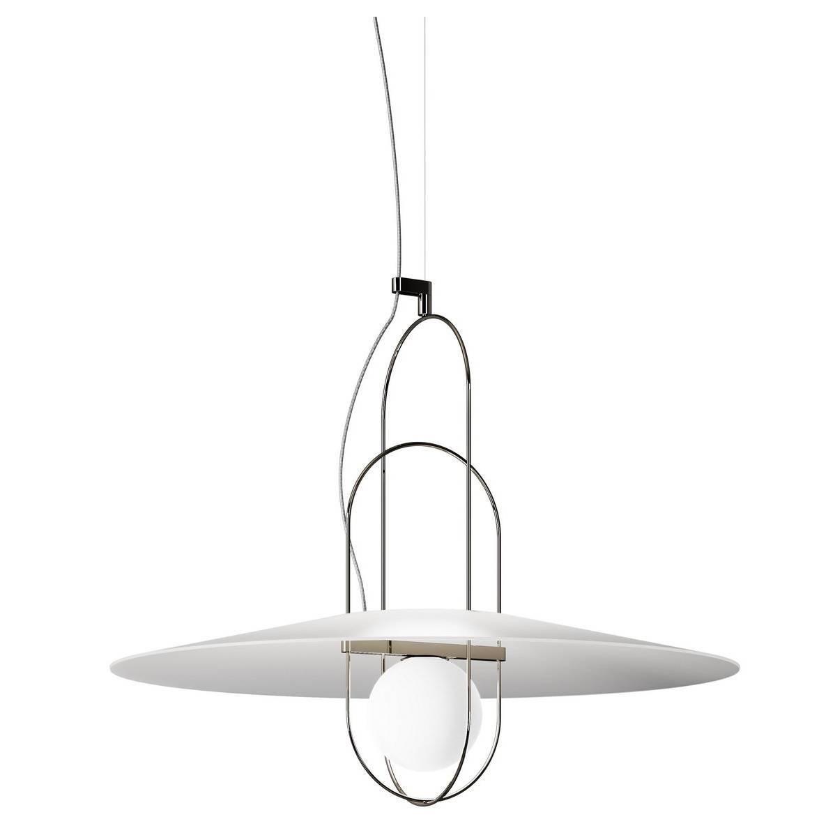 Setareh Pendant Lamp with Glass Diffuser by Francesco Librizzi for Fontana Arte