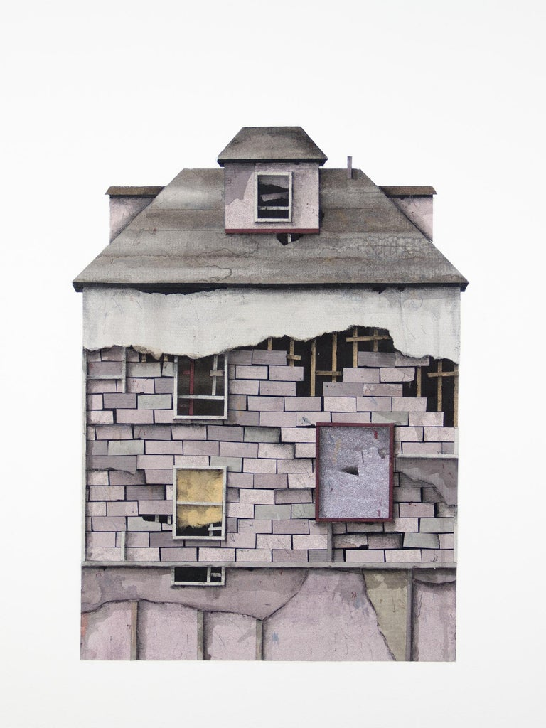 Seth Clark Figurative Art - House Portrait Series XIV