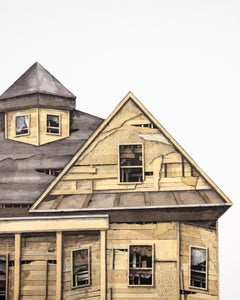 """House Studies Series VIII"", Layered Paper and Drawing Collage, Architecture"