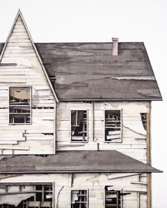 """House Studies Series X"", Layered Paper and Drawing Collage, Architecture"