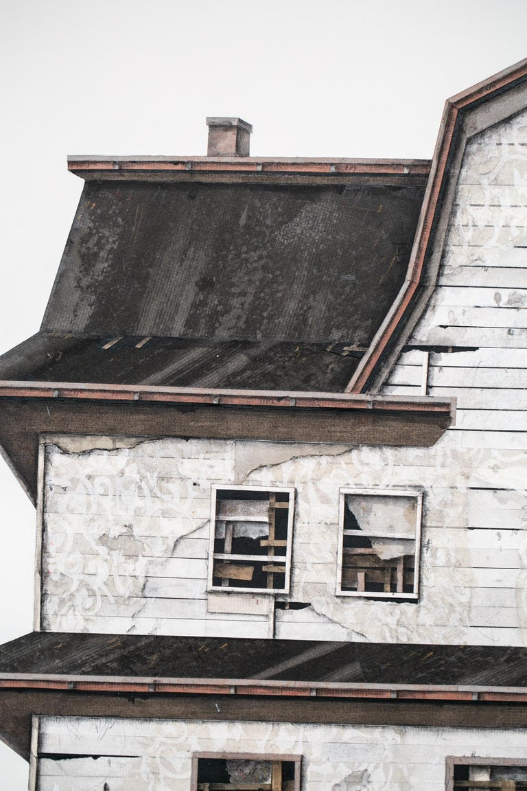 House Studies Series V - Brown Figurative Painting by Seth Clark