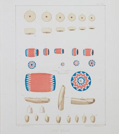"""Coin Beads--Western US Wilderness Expedition,"" Color Lithograph by Seth Eastman"