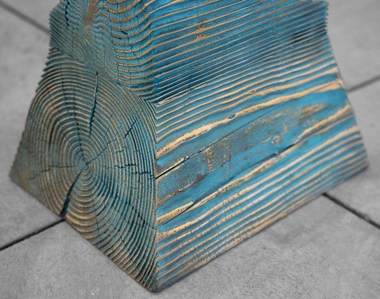 Lignum Spire - Contemporary Sculpture by Seth Kaufman