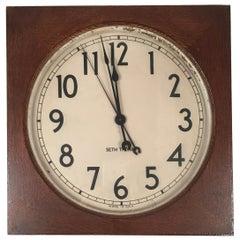 Seth Thomas Oak Electric Wall Clock