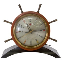 Seth Thomas Rudder Ship Wheel Electric Alarm Clock Vintage 1951