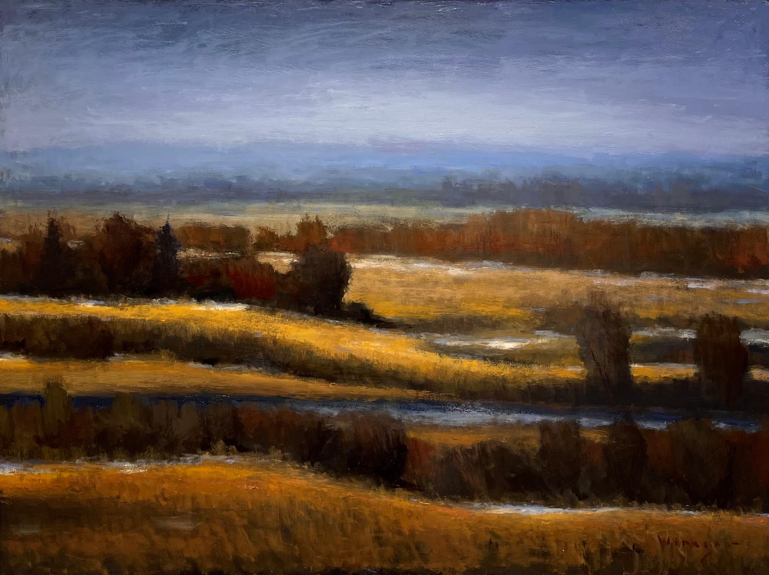 """""""Patches of Snow and Light"""" Oil Painting"""