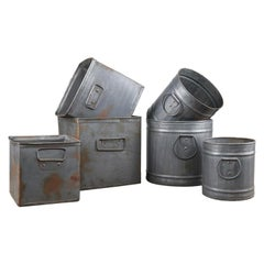 Sets of Useful Metal Pots with Handles, 20th Century