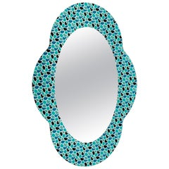 Settecento Mirror in Green/Light Blue, by Alessandro Mendini for Glas Italia