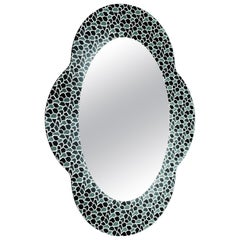 Settecento Mirror in Grey/Black, by Alessandro Mendini for Glas Italia
