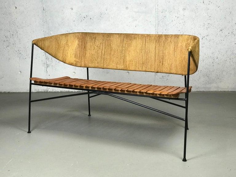 Settee Bench by Arthur Umanoff for Shaver Howard & Raymor For Sale 3