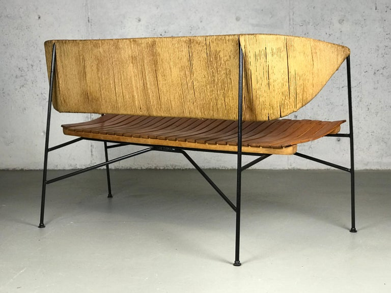 Settee Bench by Arthur Umanoff for Shaver Howard & Raymor For Sale 4