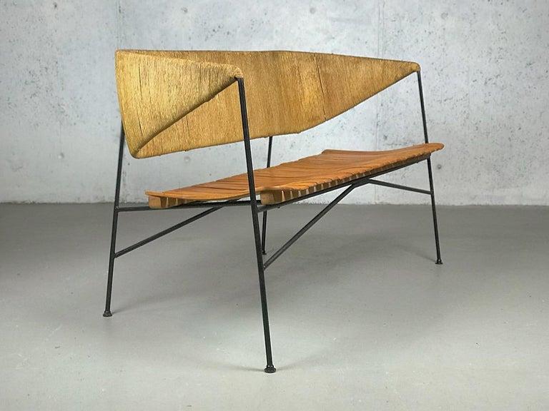 Settee Bench by Arthur Umanoff for Shaver Howard & Raymor For Sale 5