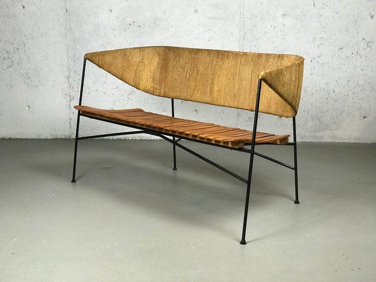 Settee Bench by Arthur Umanoff for Shaver Howard & Raymor For Sale 6