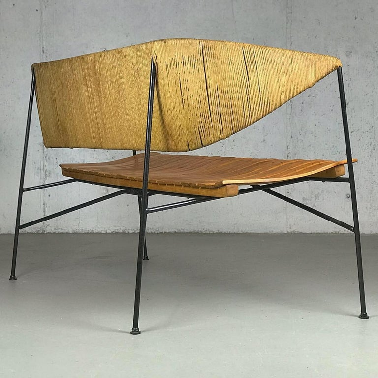 American Settee Bench by Arthur Umanoff for Shaver Howard & Raymor For Sale