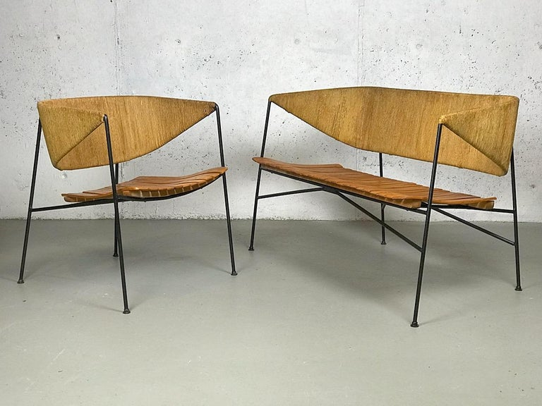Settee Bench by Arthur Umanoff for Shaver Howard & Raymor For Sale 2