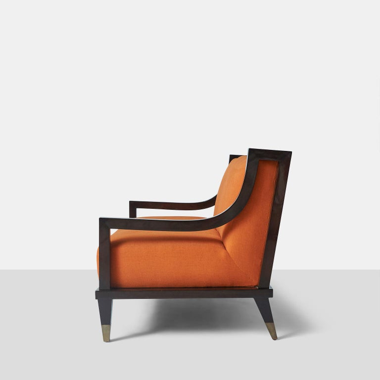 Lacquered Settee by Mito Block Brothers For Sale