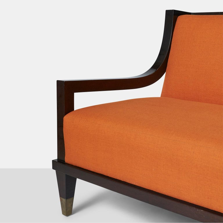Mahogany Settee by Mito Block Brothers For Sale