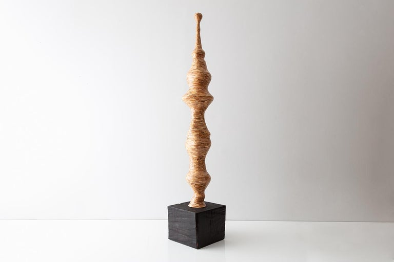 Seuss, Contemporary Stacked Spalted Maple Sculpture by Richard Haining, In Stock 3