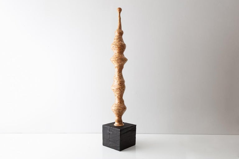 Seuss, Contemporary Stacked Spalted Maple Sculpture by Richard Haining, In Stock 4