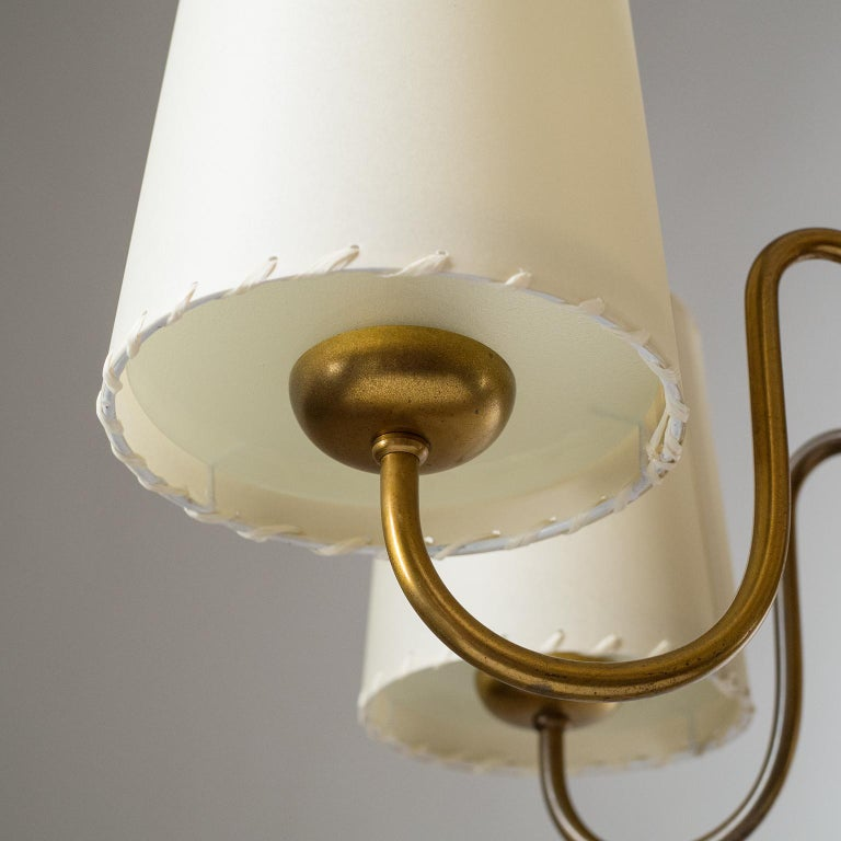 Brass Chandelier by ASEA, Sweden, 1930s For Sale 3