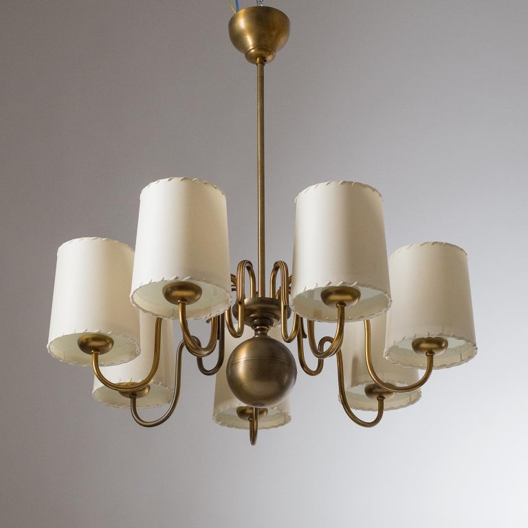 Brass Chandelier by ASEA, Sweden, 1930s For Sale 4