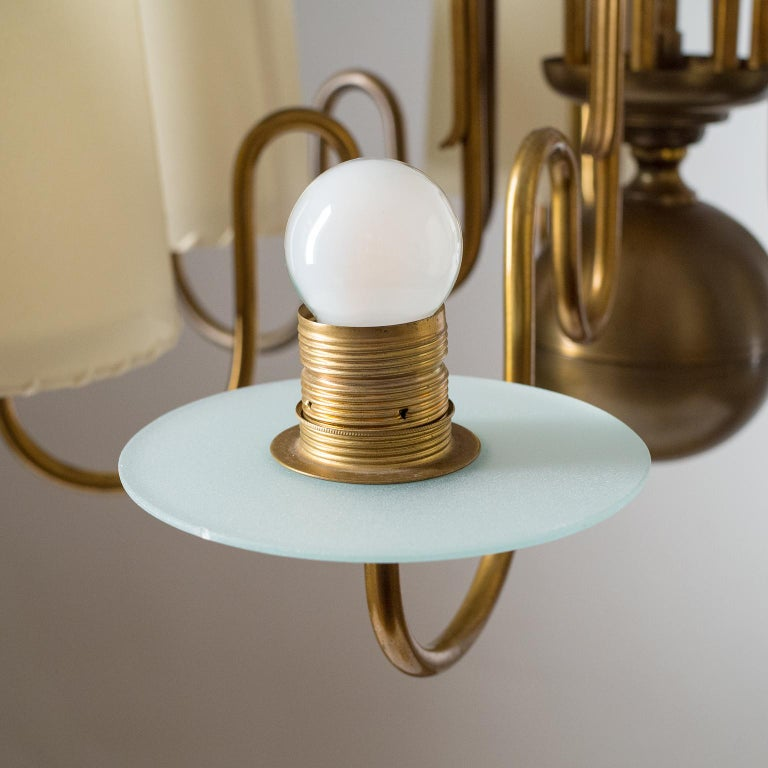 Brass Chandelier by ASEA, Sweden, 1930s For Sale 1