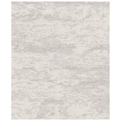 Seven Beige Hand Knotted Wool, Tencel&Aloe Rug 'Large-Size'