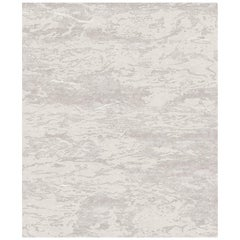 Seven Beige Hand Knotted Wool, Tencel and Aloe Rug 'Medium-Size'