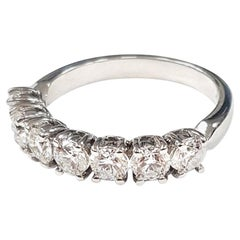 Seven-Diamond 18 Karat Gold Ring