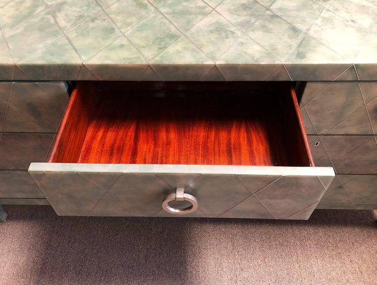 Hollywood Regency Seven Drawer Dresser For Sale