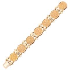 Seven European Gold Coins Mounted as a Bracelet