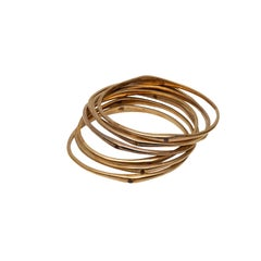 Seven Gold Plated Thin Bangle Bracelets