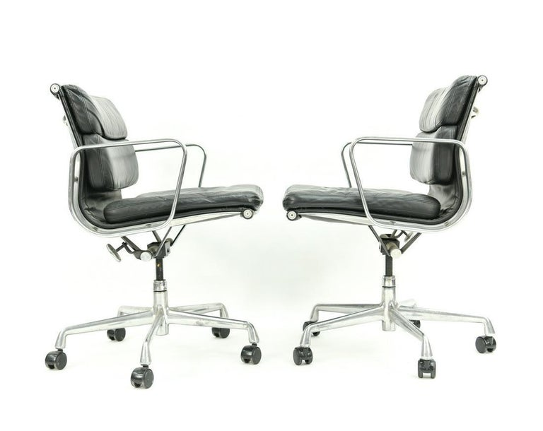 Mid-Century Modern Seven Herman Miller Soft Pad Office Chairs For Sale