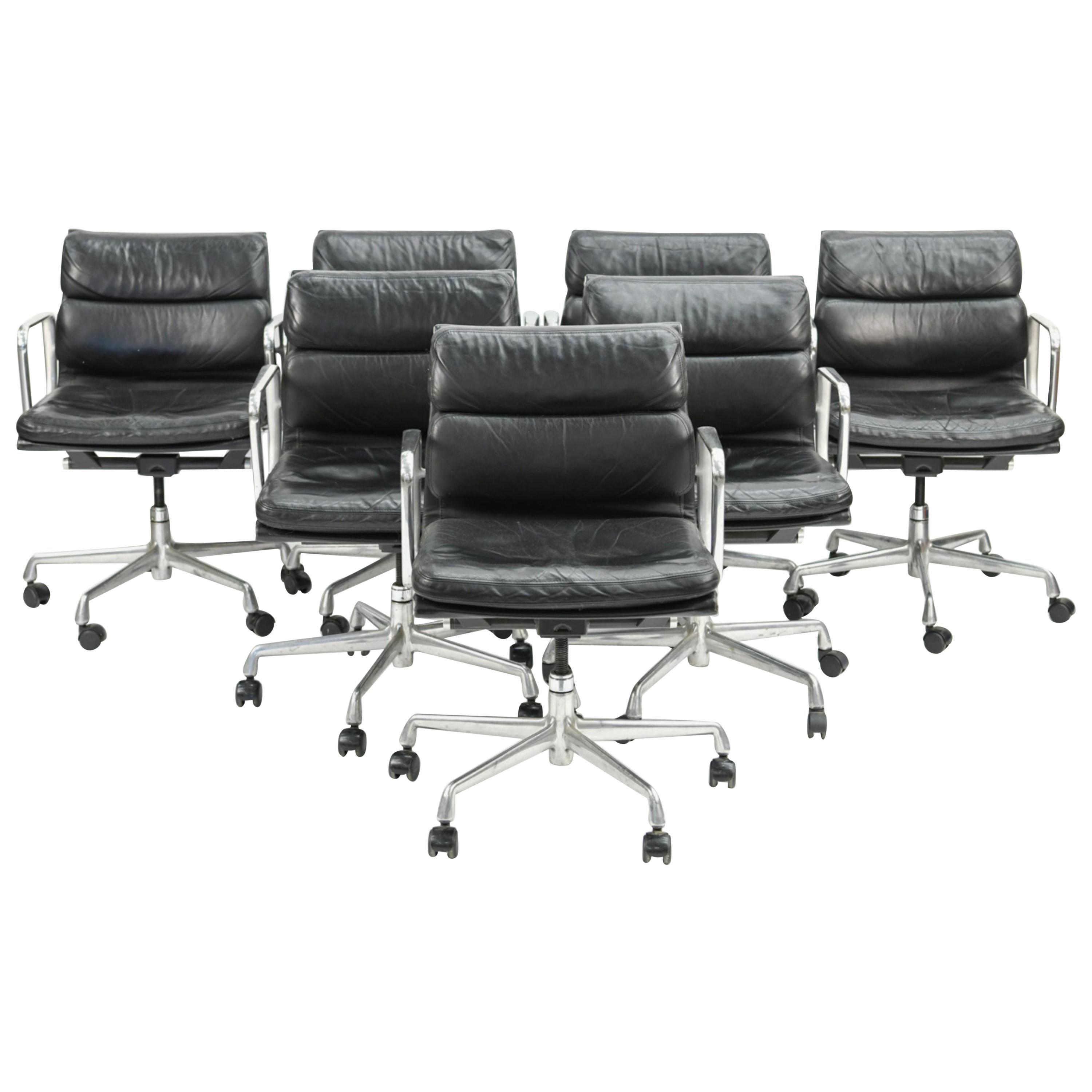 Six Herman Miller Soft Pad Office Chairs