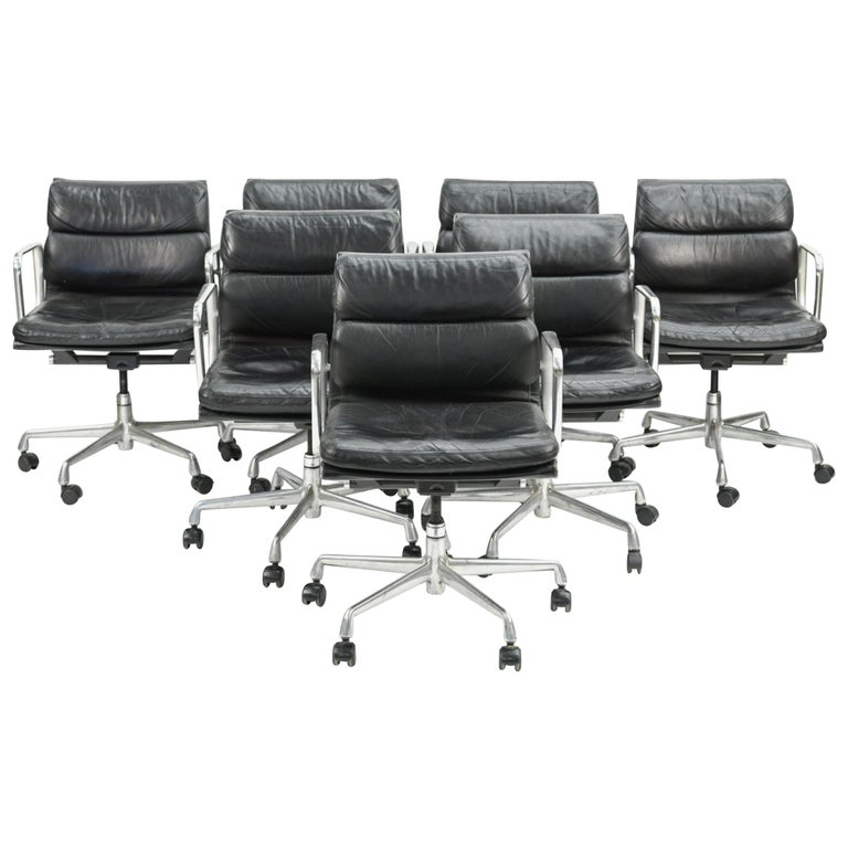Seven Herman Miller Soft Pad Office Chairs For Sale
