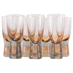 Seven Holmegaard Canada Glasses by Per Lutken
