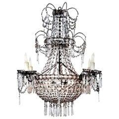 Seven-Light Crystal Chandelier